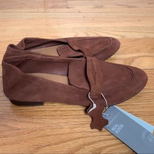 NWT suede loafers